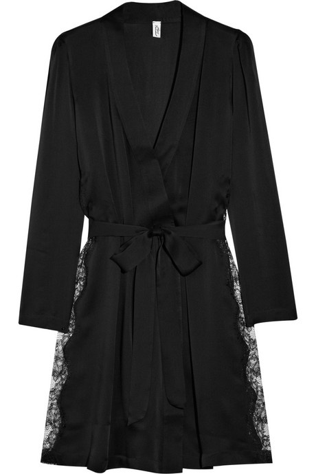 Agent Provocateur Ingrid lace and silk-blend robe