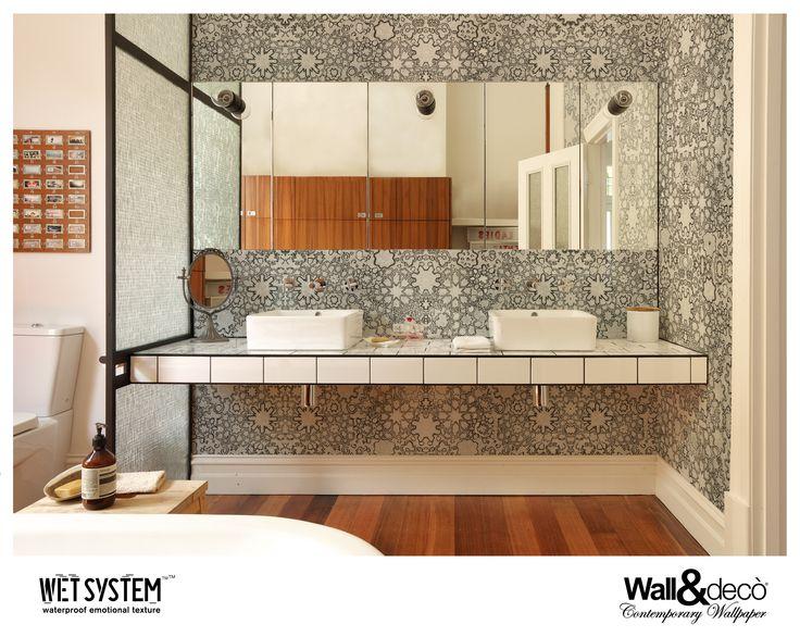 les 43 meilleures images du tableau papier peint tanche waterproof wallpaper sur pinterest. Black Bedroom Furniture Sets. Home Design Ideas