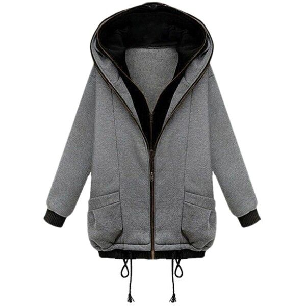Gray Cool Womens Double Zipper False Two Piece Plain Hoodie ($56) ❤ liked on Polyvore featuring tops, hoodies, grey, grey hoodie, gray hooded sweatshirt, grey hoodies, grey hooded sweatshirt e gray hoodies