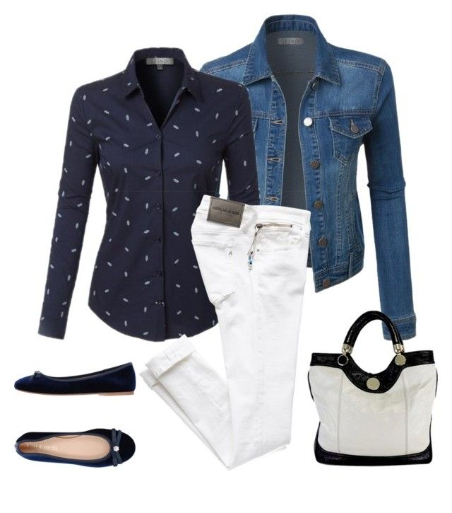 """""""city#style#white#jeans#138"""" by bidlekerika on Polyvore featuring LE3NO, Jill Stuart and Cantarelli"""