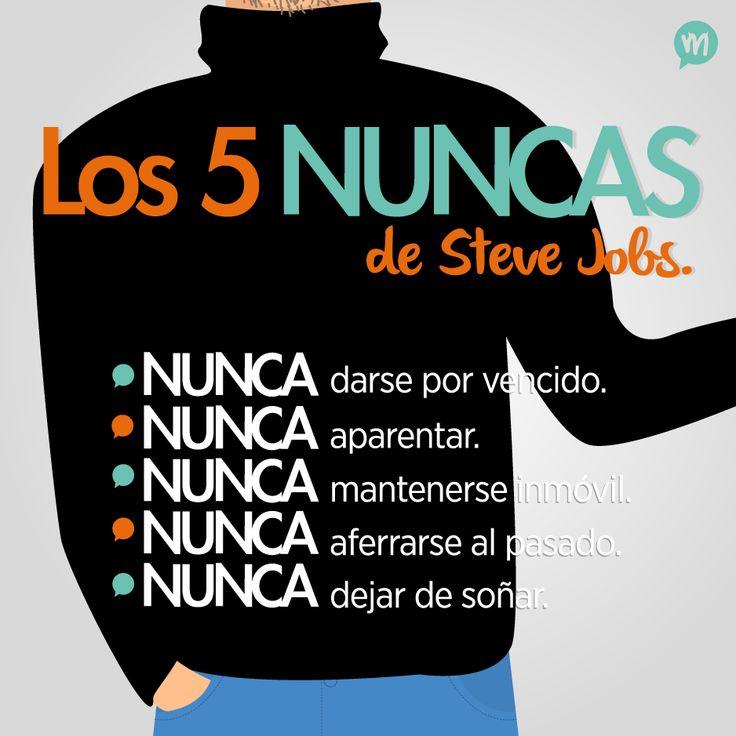 Los 5 nuncas de Steve Jobs! #Jobs #Quotes