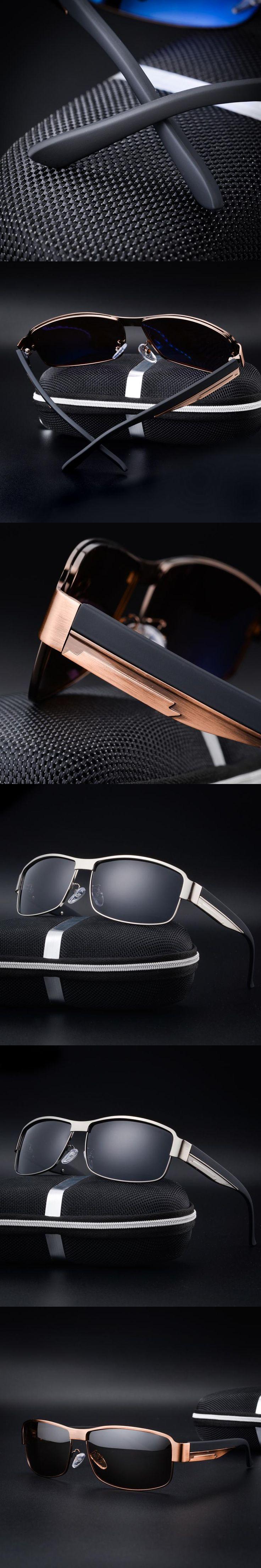 Fashion 2017 Men Sunglasses Plastic Polarized Mirror Glasses For Men Adult Rectangle Metal Alloy Frame Oculos De Sol Masculino