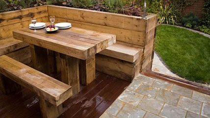 24 best images about railway sleeper features on pinterest for Garden design east london