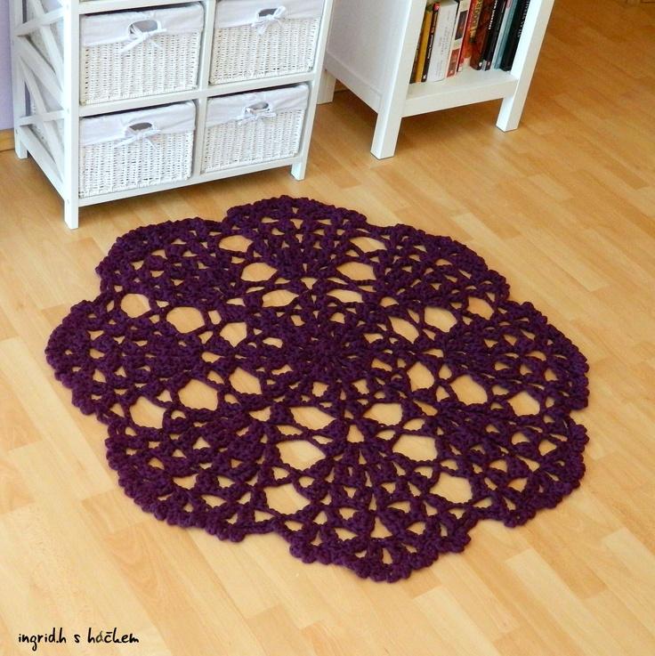 Háčkovaný koberec, rug