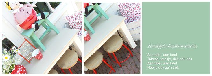 Speciaal voor jou op maat gemaakte massief houten kindertafels of speeltafels! De tafels zijn leverbaar in de door jou gewenste maat.