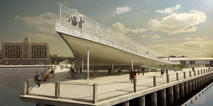 BIG Designs Pier 6 Viewing Platform for Brooklyn's Waterfront