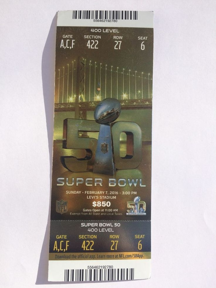 super bowl 50 ticket stub denver #Broncos plus lanyard from $0.01