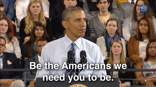 New party member! Tags: obama barack obama potus americans be the americans we need you to be
