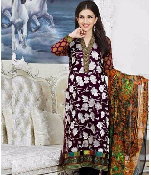 Tawakkal Embroidered Suit Verve Fancy Collection 3915_B