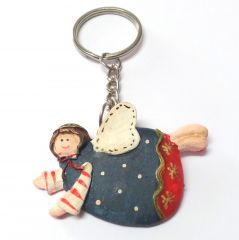 Melekler sayesinde artık anahtarlarınızı hiç kaybetmeyeceksiniz. Ölçüler: 3,5 cm x 5 cm (Halka ve zincir hariç ölçülerdir) Ürünün Malzemesi: Reçine