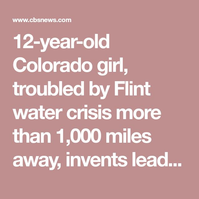 12 Year Old Colorado Girl Troubled By Flint Water Crisis More