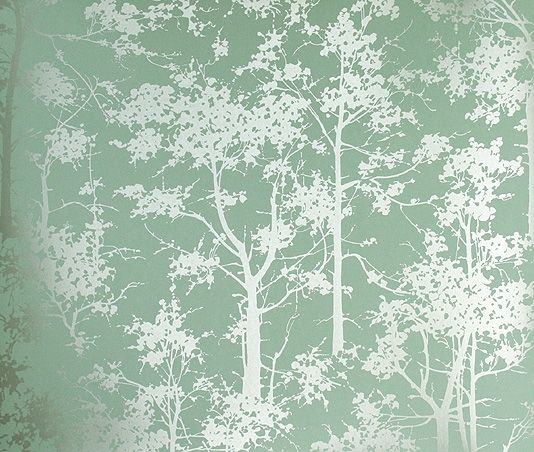 Mandara Wallpaper Aqua wallpaper with a forest of  silver trees