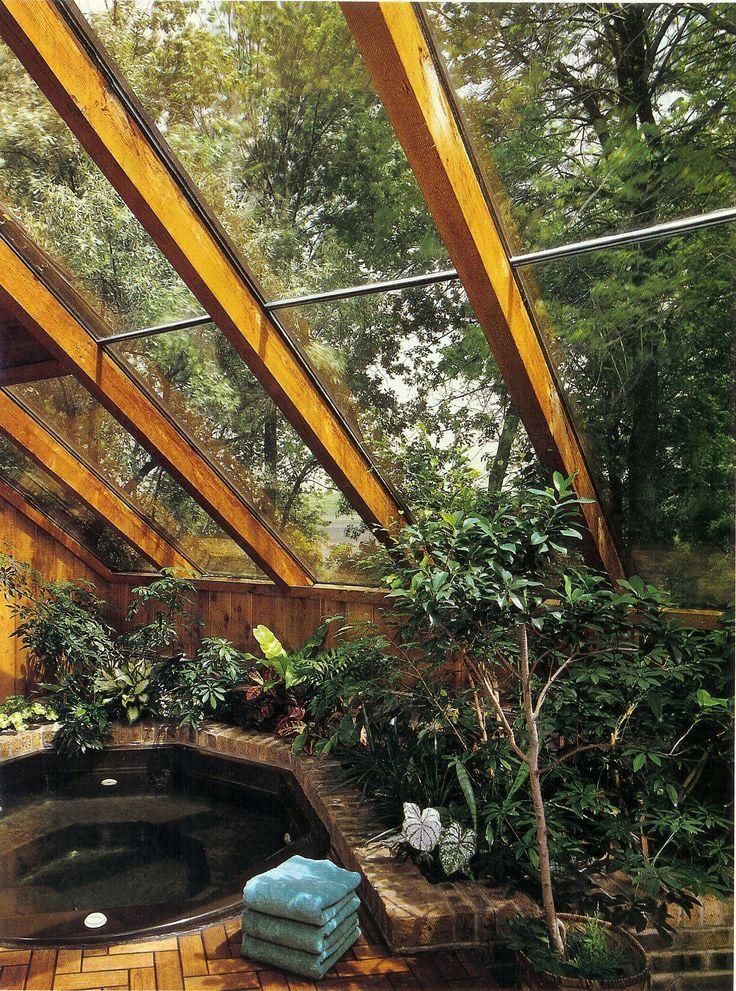 "bohemianhomes: "" Bohemian Homes: Indoor Hottub """