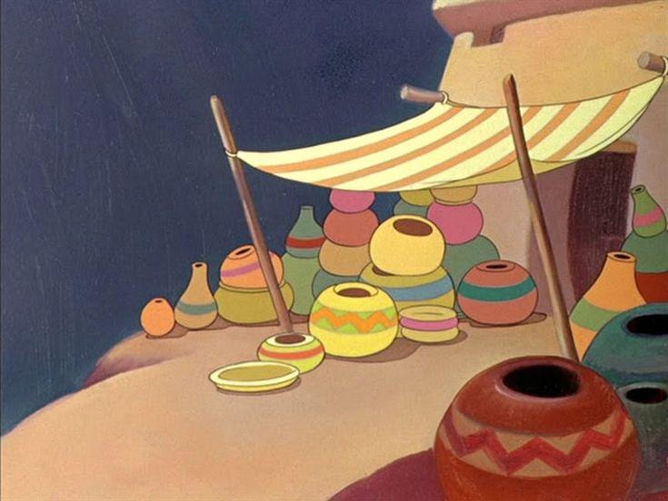"""""""SALUDOS AMIGOS"""" Background Artwork (1942)"""