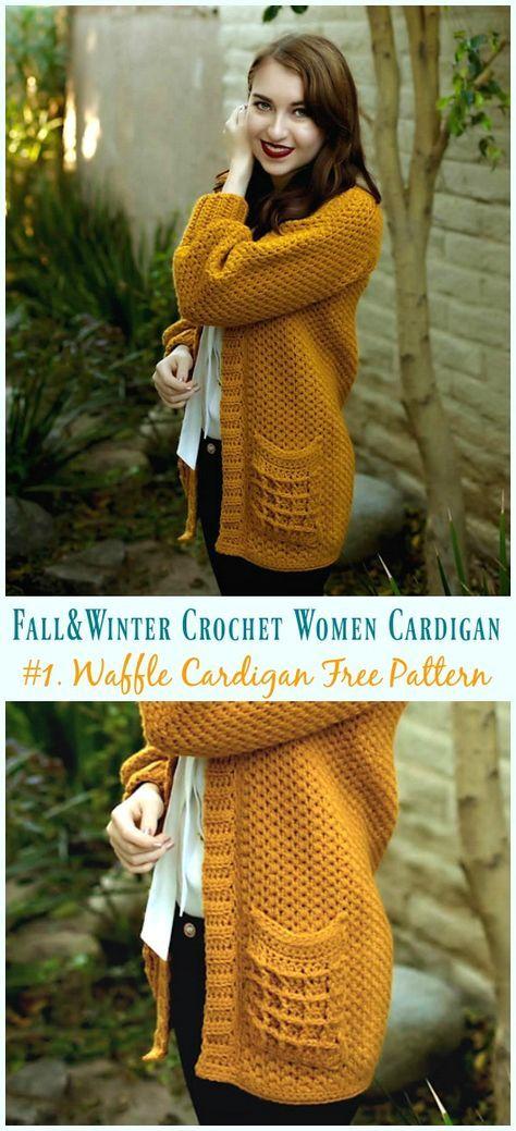 Fall Winter Women Cardigan Free Crochet Patterns Free Crochet