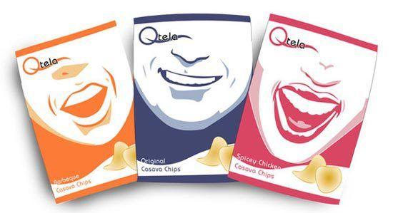 Konsep Desain Kemasan - Qtela Casava chips by Ronaldesign