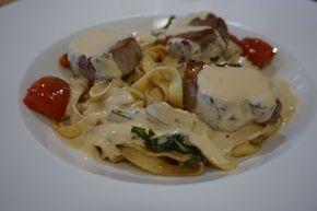 www.diningandcooking.blogg.se - Världens godaste pasta med fläskfilé och rosmarinsås