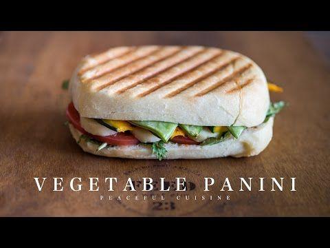 Vegetable Panini (vegan) ☆ ベジタブルパニーニの作り方 - YouTube
