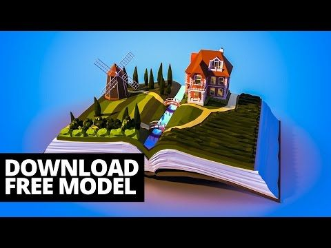 (9) 3D timelapse: Landscape on book - YouTube