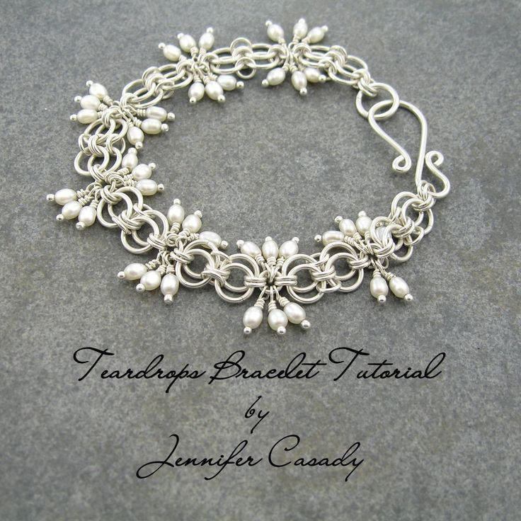 TUTORIAL  Teardrops Gemstone and Chainmail by JenniferCasadyGems, $10.00