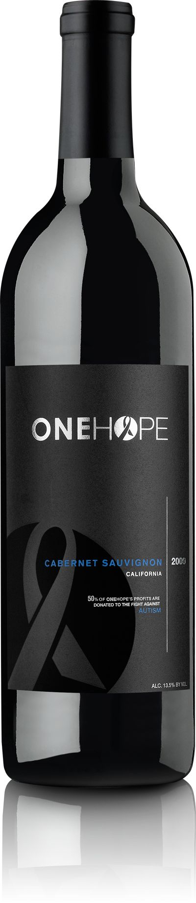 onehope cabernet- every bottle purchased goes towards grants for families of children with autism