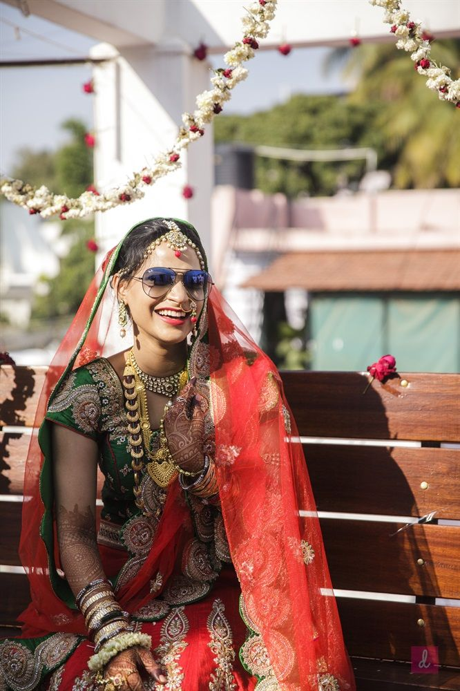 """""""Every #bride is beautiful,but not all are cool""""#weddingphotography #bridalmakeup #candidphotography PC: Deepashree"""