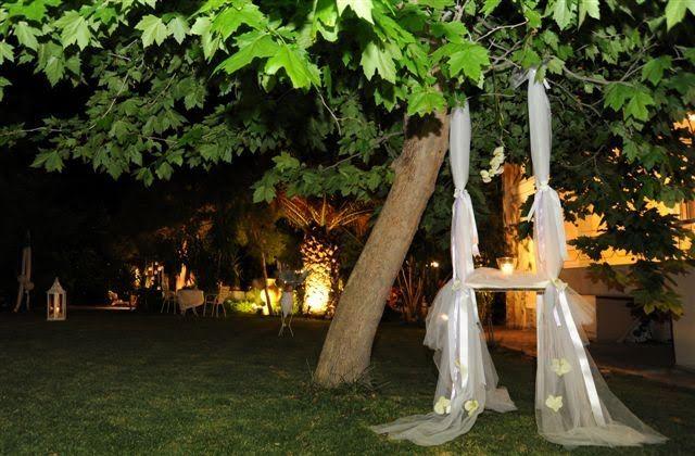 Νυχτερινή φωτογράφηση γάμου στο κτήμα γάμου Marie's House