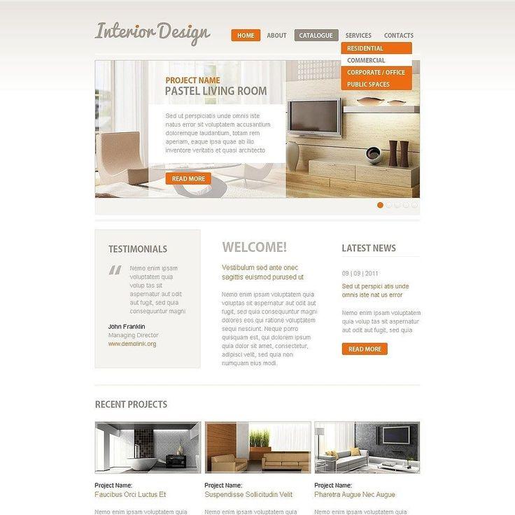Interior Design Facebook Template CLICK HERE Live Demo Cattemplate Go2eiMg2u Templates Graphicoftheday Websitedesign