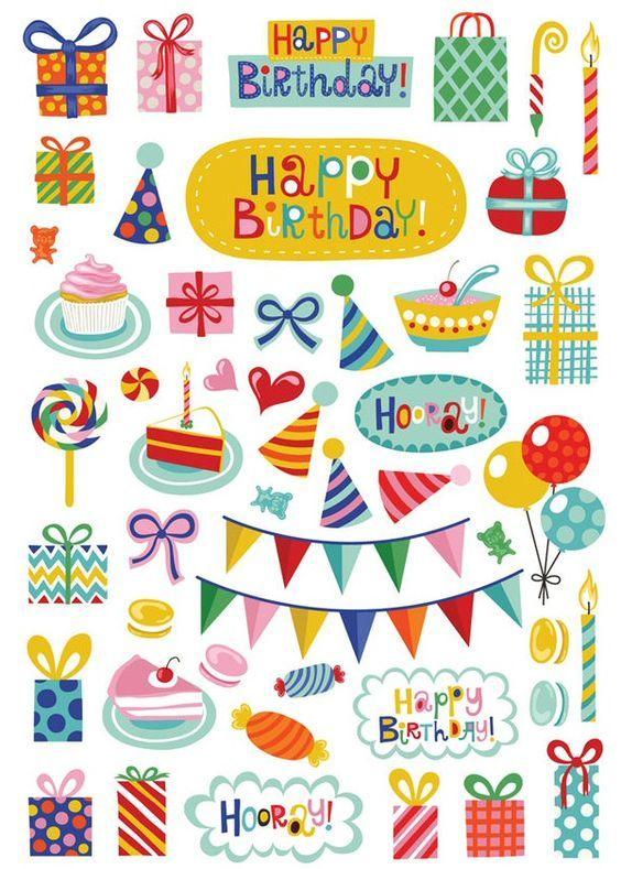картинки с днем рождения для распечатки цветные