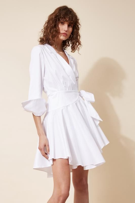 LAST LIGHT LONG SLEEVE DRESS ivory