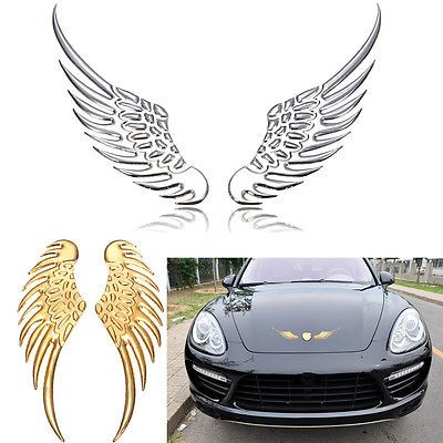 3D Wings Motorcycle Car Personalized Sticker Badge Emblem Decal Metal Mark