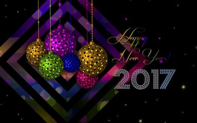 Обои картинки фото праздничные, векторная графика , новый год, шары, фон