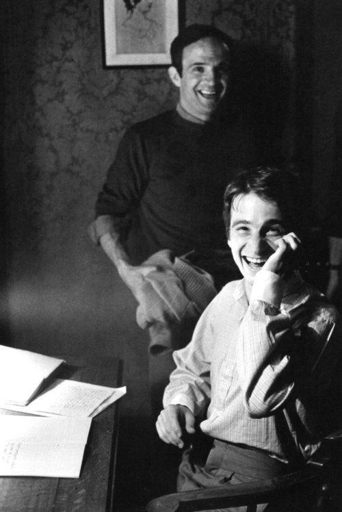 François Truffaut et Jean-Pierre Léaud