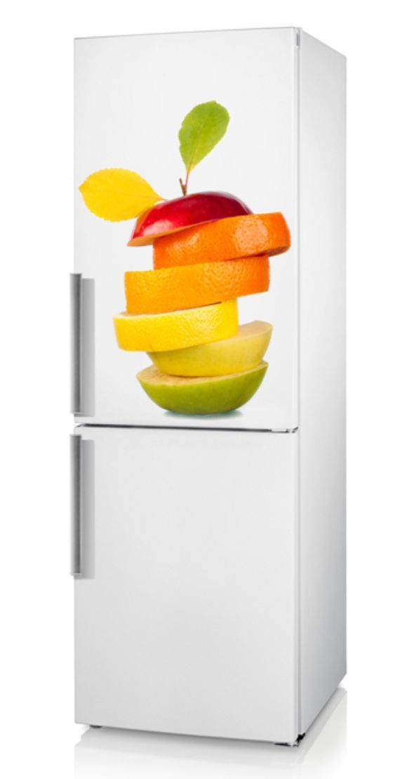Refrigerator decal vinyl sticker fruit on the refrigerator