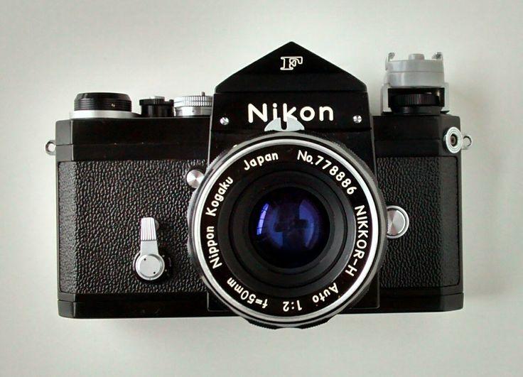 Nikon F 35mm Single-Lens Reflex Camera with Eye-level Prism Finder, Nippon Kogaku Japan NIKKOR-H Auto 1:2 f=50mm Lens #NikonF