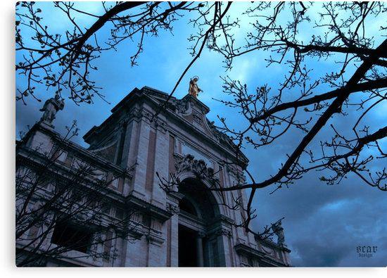 Santa Maria degli Angeli in Assisi by Scar Design #Assisi #Italy #travel #architecture #church #basilica #angeli #santamaria #Santa #Saint #nature #tree #sunset