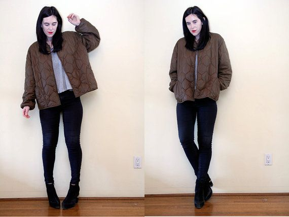Hey, I found this really awesome Etsy listing at https://www.etsy.com/listing/178322425/vintage-khaki-bomber-military-army