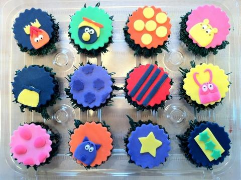 backyardigans cupcakes fondant toppers