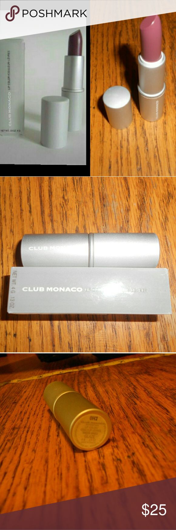 """Famous club Monaco lip stick in """"glaze"""" LAST TUBE Brand new tube of club Monaco lip stick in glaze color Made famous by Monica Lewinsky in the 90's The box is a bit damaged but not too bad This lip stick is easily 45+ on eBay and everywhere else Feel free to ask questions! Club Monaco Makeup Lipstick"""