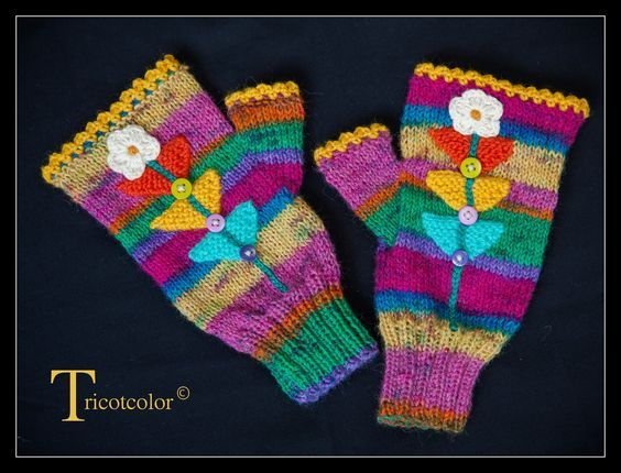 Tricotcolor  Accessories: Gloves and Mittens   Pinterest  Mitaines, Gant et Les gants