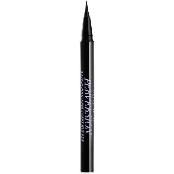 Urban Decay Perversion Fine-Point Eye Pen (£17) ❤ liked on Polyvore featuring beauty products, makeup, eye makeup, urban decay eye makeup, urban decay, urban decay cosmetics, pen eyeliner and urban decay makeup