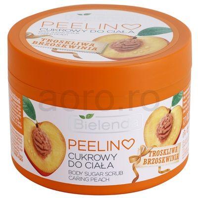 Bielenda Caring Peach peeling corporal cu zahar | aoro.ro