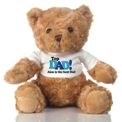 Top Dad Personalised Teddy bear - The Personalised Gift Shop