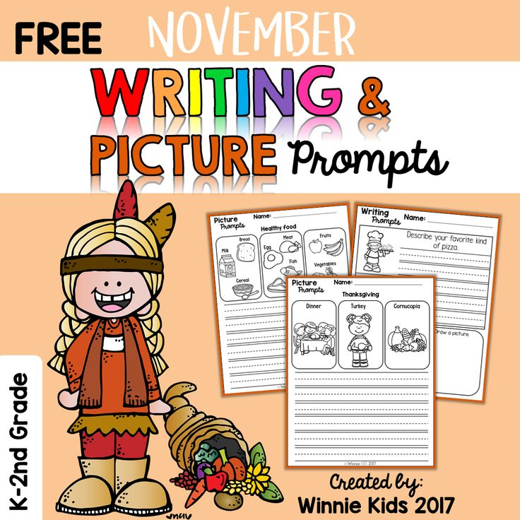 FREE November Writing and Picture Prompts include:  * 1 Writing prompt with Coloring a picture and Draw a picture.  * 2 Picture prompts.