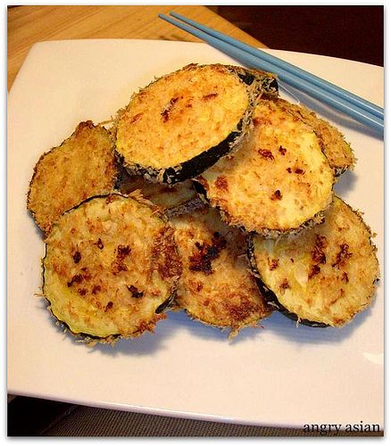 Baked Breaded Zucchini Chips