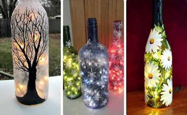 Фото: Что можно сделать со стеклянными бутылками после праздников (Фото)