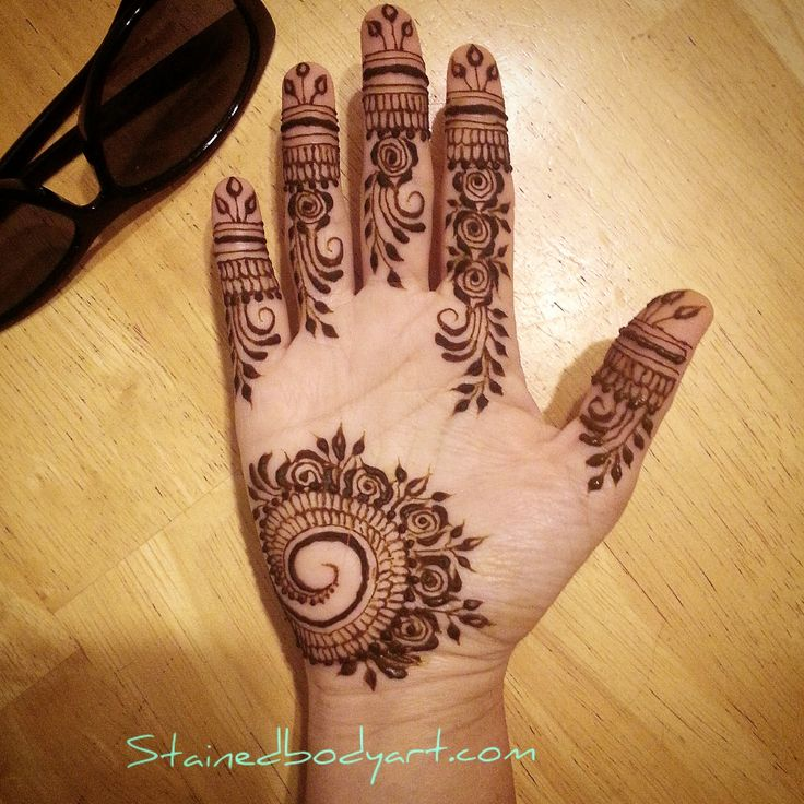 my non-dom palm henna @stained_bodyart
