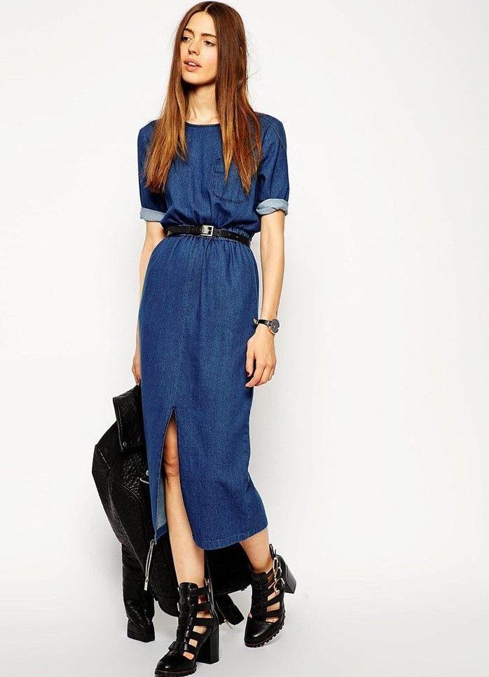 0f8156b11e4 джинсовое платье современное