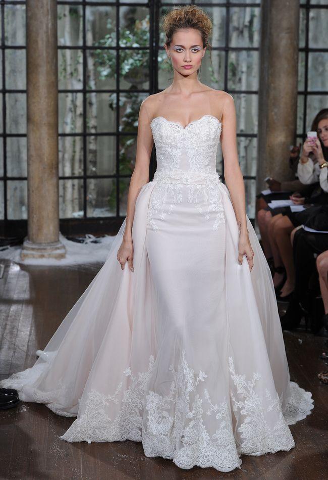Strapless Lace Wedding Dress | Ines di Santo Wedding Dresses Fall/Winter 2015 | Maria Valentino/MCV Photo | Blog.theknot.com