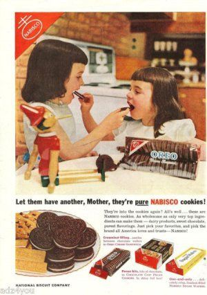 1953 Girls' Toys | 1953 Nabisco Cookies Ad~Wood/Wooden Pinocchio Doll pictured with 2 ...